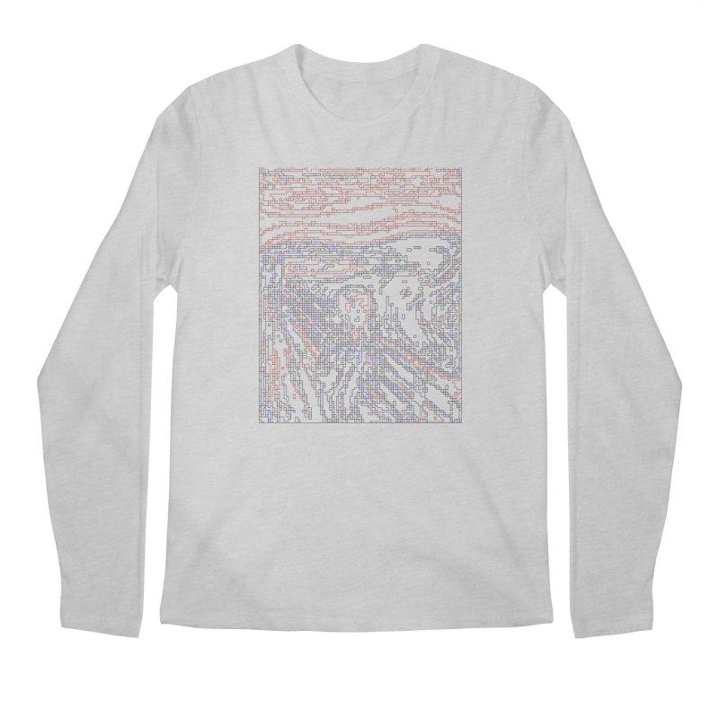 The Scream - Digital Lines Men's Regular Longsleeve T-Shirt by Puttyhead's Artist Shop