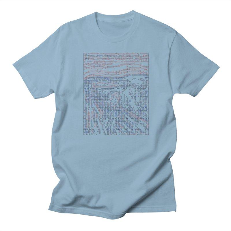 The Scream - Digital Lines Men's Regular T-Shirt by Puttyhead's Artist Shop