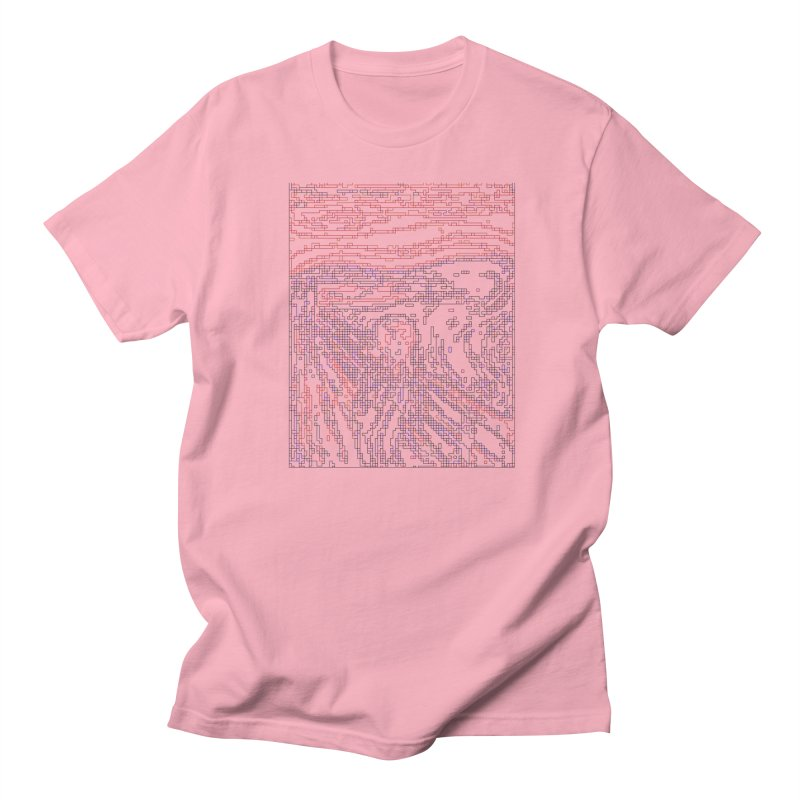 The Scream - Digital Lines Women's Regular Unisex T-Shirt by Puttyhead's Artist Shop