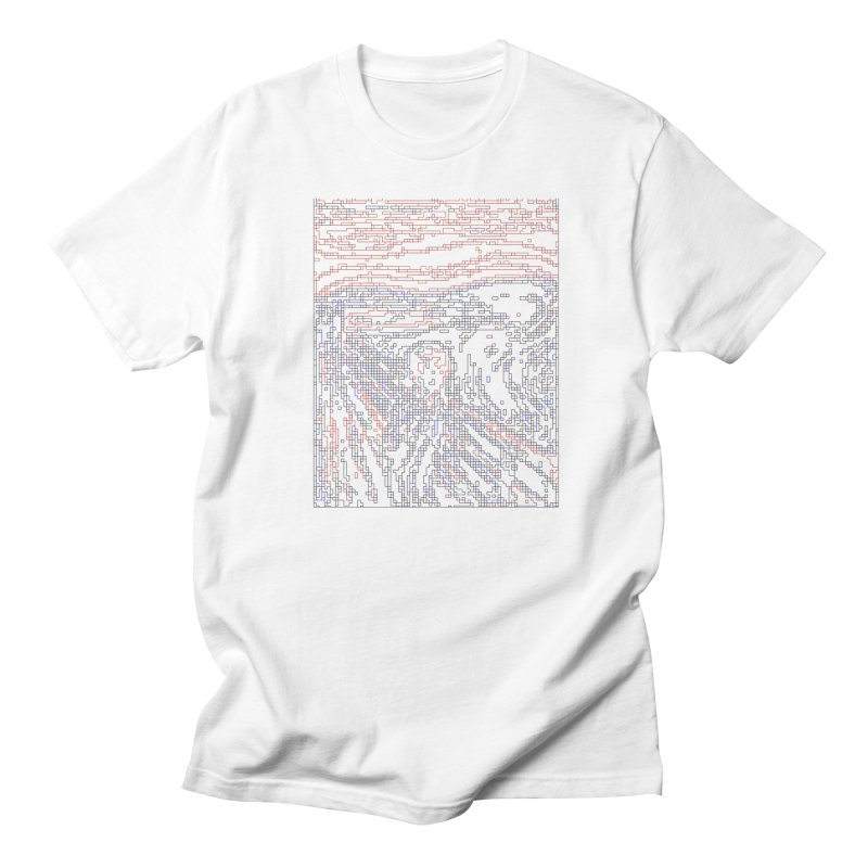 The Scream - Digital Lines Men's Regular T-Shirt by Puttyhead's Artist Shop