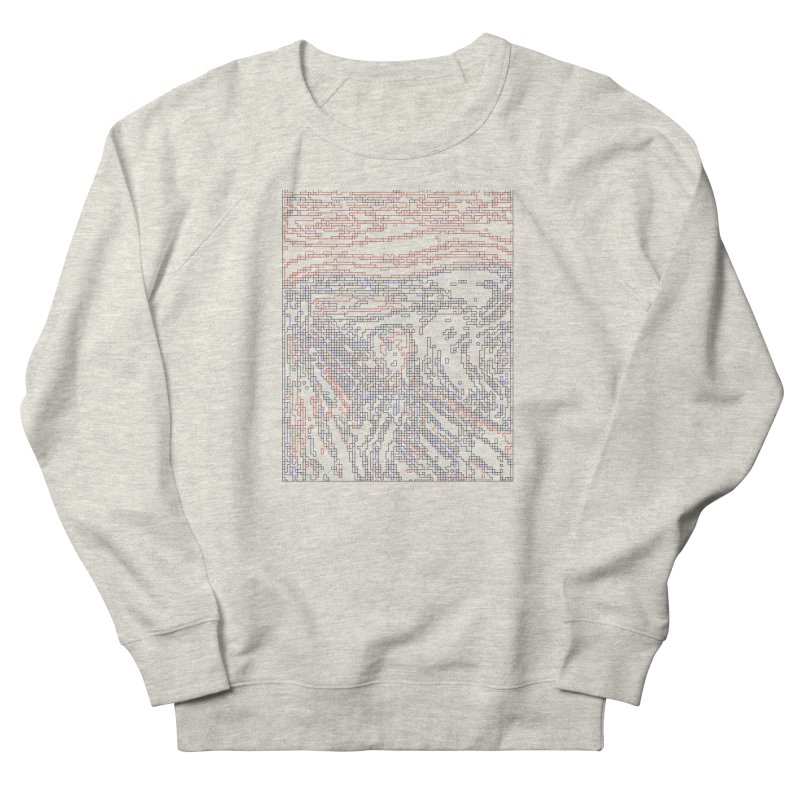 The Scream - Digital Lines Men's French Terry Sweatshirt by Puttyhead's Artist Shop