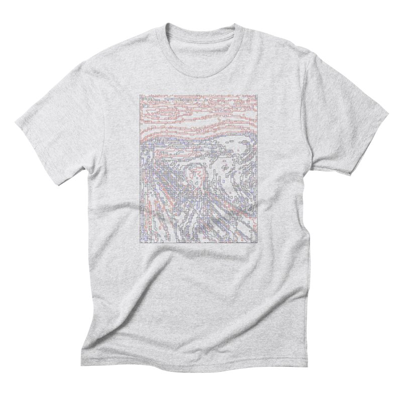 The Scream - Digital Lines Men's Triblend T-Shirt by Puttyhead's Artist Shop