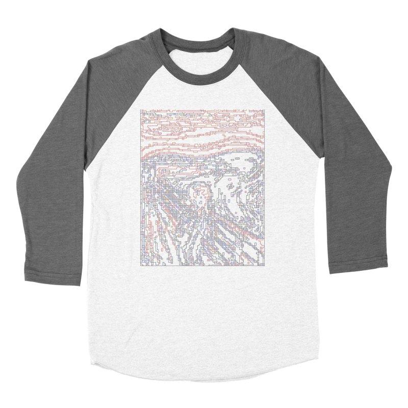The Scream - Digital Lines Men's Baseball Triblend Longsleeve T-Shirt by Puttyhead's Artist Shop