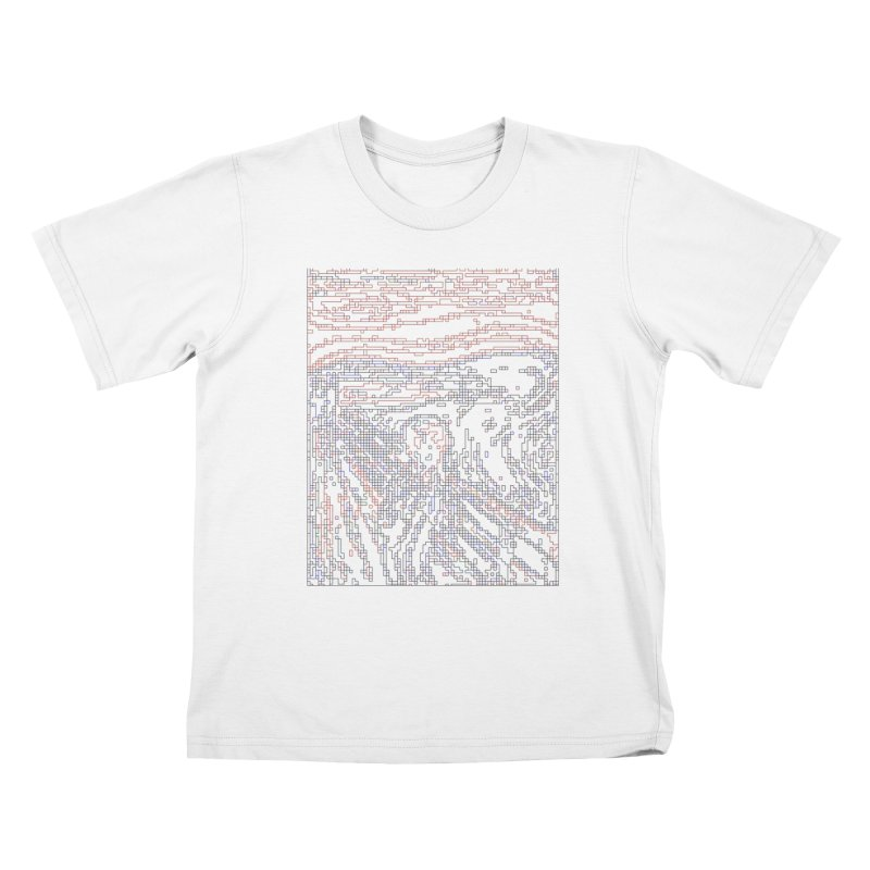 The Scream - Digital Lines Kids T-Shirt by Puttyhead's Artist Shop