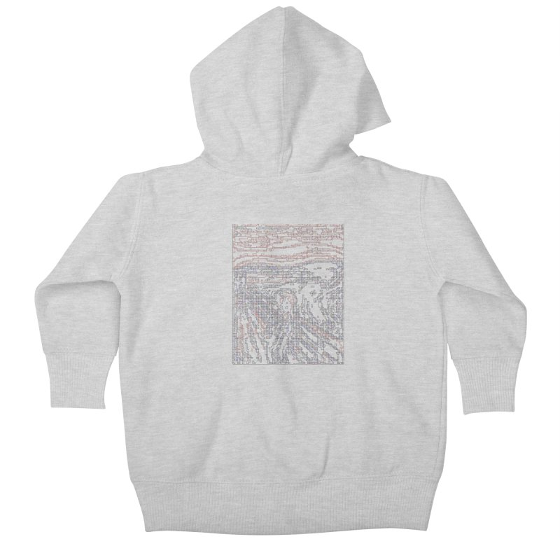 The Scream - Digital Lines Kids Baby Zip-Up Hoody by Puttyhead's Artist Shop