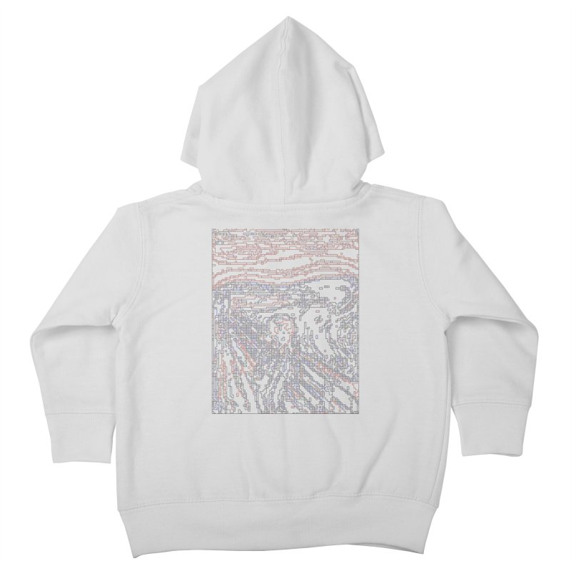 The Scream - Digital Lines Kids Toddler Zip-Up Hoody by Puttyhead's Artist Shop