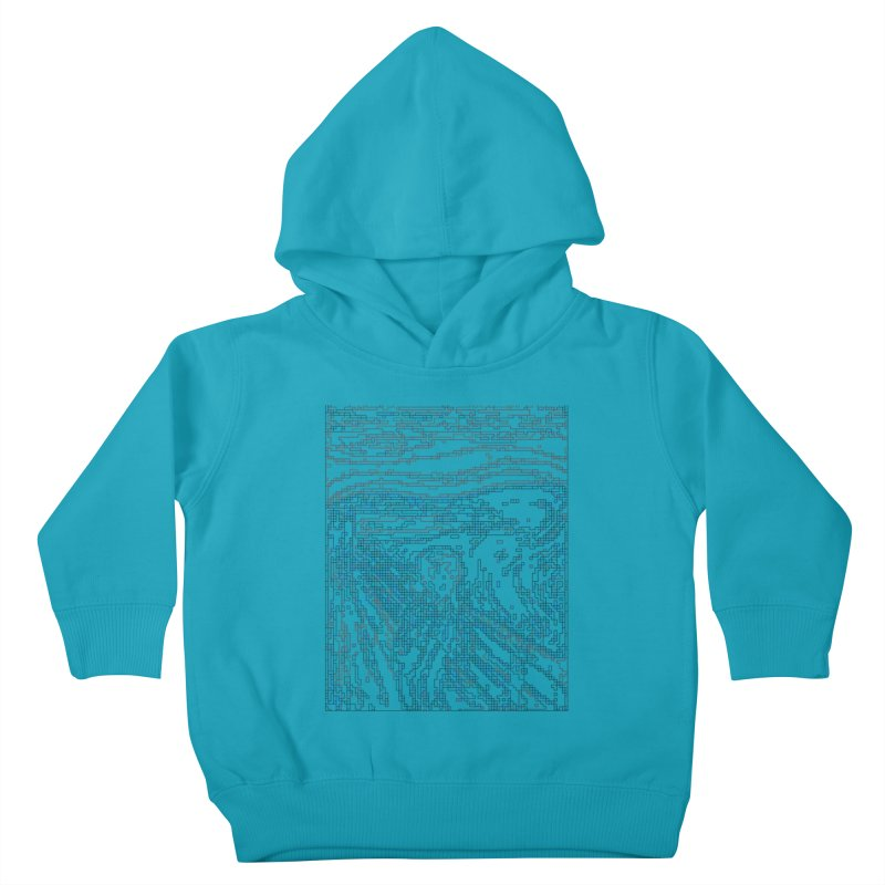 The Scream - Digital Lines Kids Toddler Pullover Hoody by Puttyhead's Artist Shop