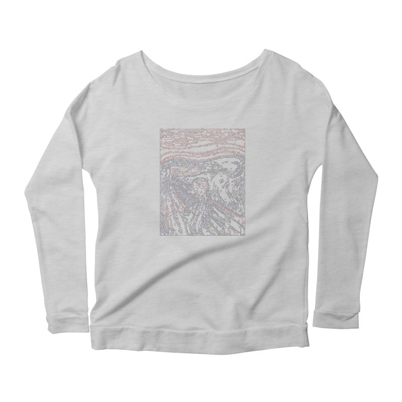 The Scream - Digital Lines Women's Scoop Neck Longsleeve T-Shirt by Puttyhead's Artist Shop
