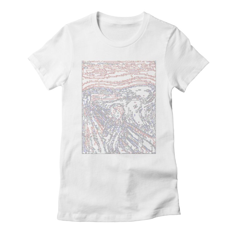 The Scream - Digital Lines Women's Fitted T-Shirt by Puttyhead's Artist Shop