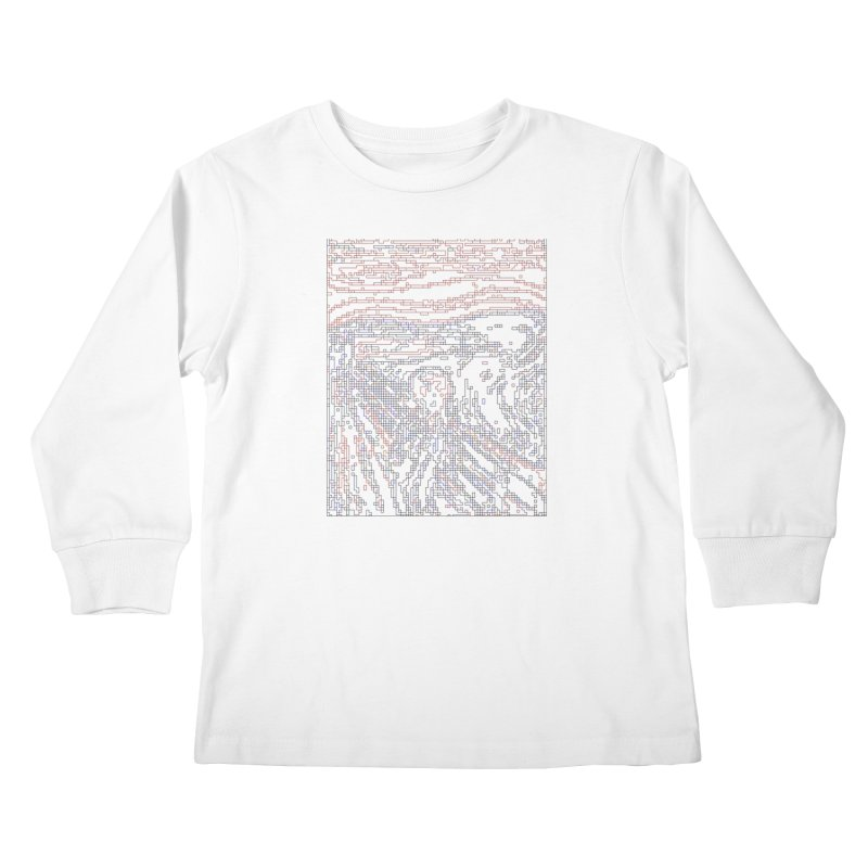 The Scream - Digital Lines Kids Longsleeve T-Shirt by Puttyhead's Artist Shop