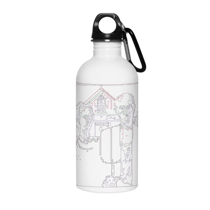 American Gothic - Digital Lines Accessories Water Bottle by Puttyhead's Artist Shop
