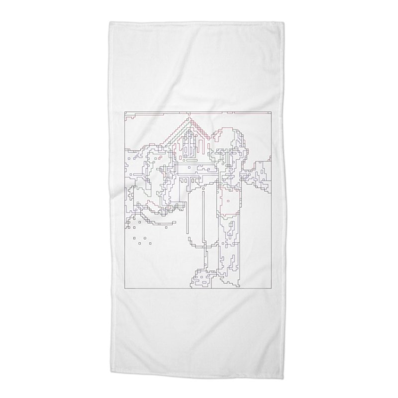 American Gothic - Digital Lines Accessories Beach Towel by Puttyhead's Artist Shop