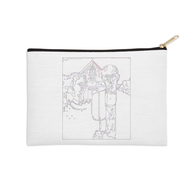 American Gothic - Digital Lines Accessories Zip Pouch by Puttyhead's Artist Shop