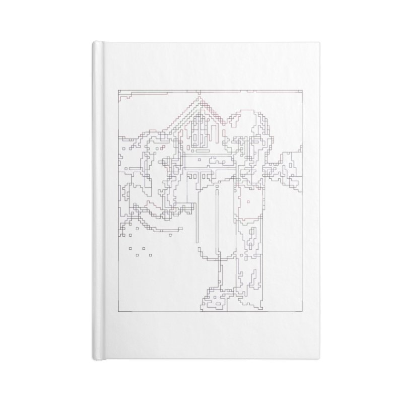 American Gothic - Digital Lines Accessories Notebook by Puttyhead's Artist Shop