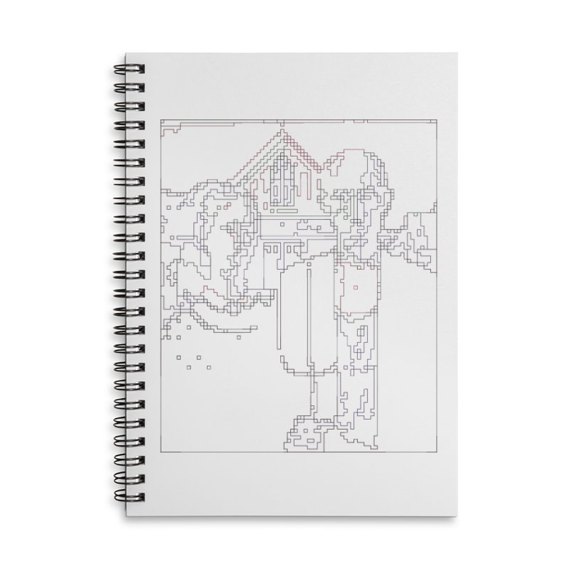 American Gothic - Digital Lines Accessories Lined Spiral Notebook by Puttyhead's Artist Shop