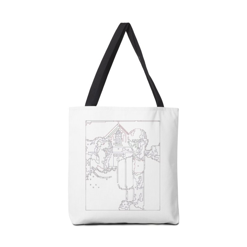 American Gothic - Digital Lines Accessories Tote Bag Bag by Puttyhead's Artist Shop