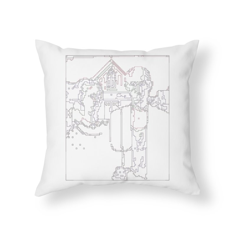 American Gothic - Digital Lines Home Throw Pillow by Puttyhead's Artist Shop
