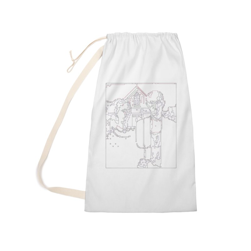 American Gothic - Digital Lines Accessories Laundry Bag Bag by Puttyhead's Artist Shop