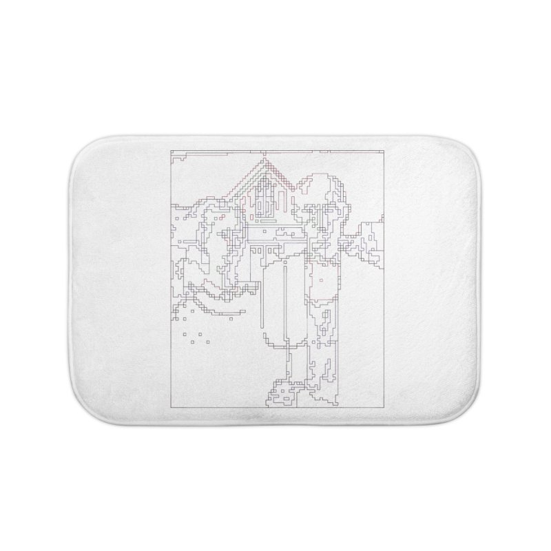 American Gothic - Digital Lines Home Bath Mat by Puttyhead's Artist Shop
