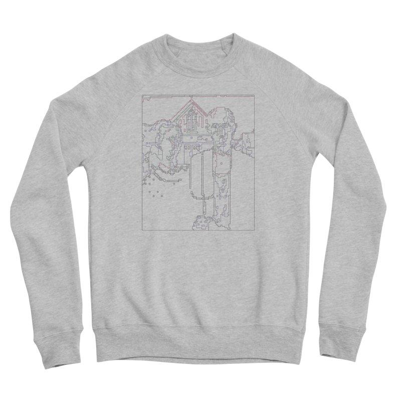 American Gothic - Digital Lines Women's Sponge Fleece Sweatshirt by Puttyhead's Artist Shop