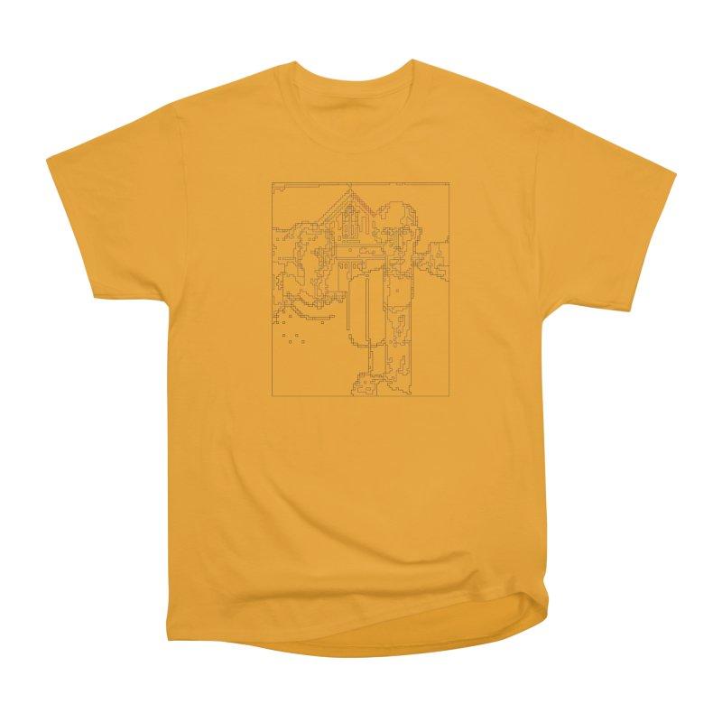 American Gothic - Digital Lines Women's Heavyweight Unisex T-Shirt by Puttyhead's Artist Shop