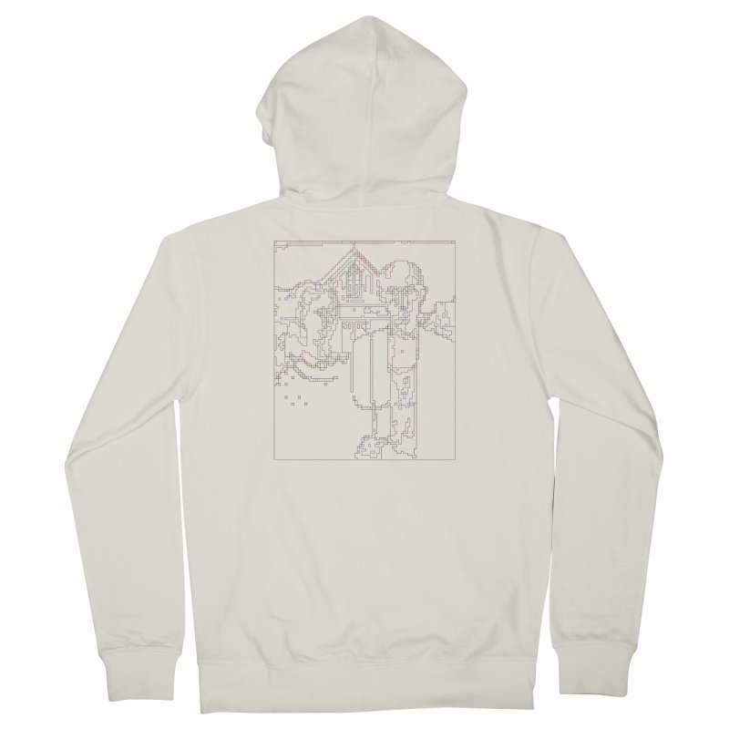 American Gothic - Digital Lines Men's French Terry Zip-Up Hoody by Puttyhead's Artist Shop