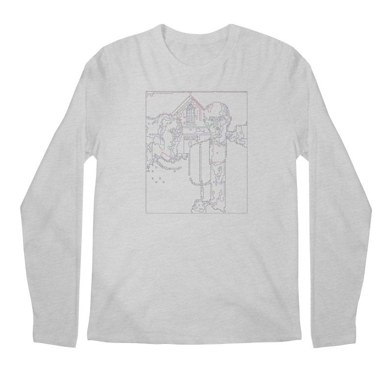 American Gothic - Digital Lines Men's Regular Longsleeve T-Shirt by Puttyhead's Artist Shop
