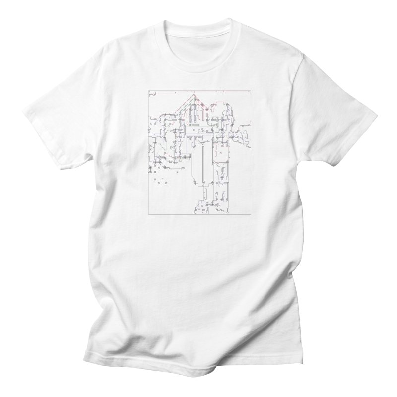 American Gothic - Digital Lines Men's Regular T-Shirt by Puttyhead's Artist Shop