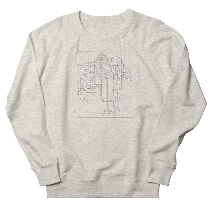 American Gothic - Digital Lines Women's French Terry Sweatshirt by Puttyhead's Artist Shop