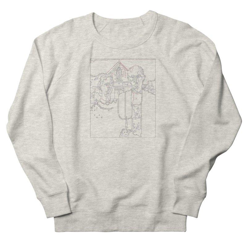 American Gothic - Digital Lines Men's French Terry Sweatshirt by Puttyhead's Artist Shop