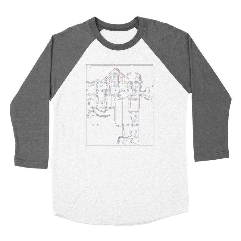 American Gothic - Digital Lines Women's Baseball Triblend Longsleeve T-Shirt by Puttyhead's Artist Shop