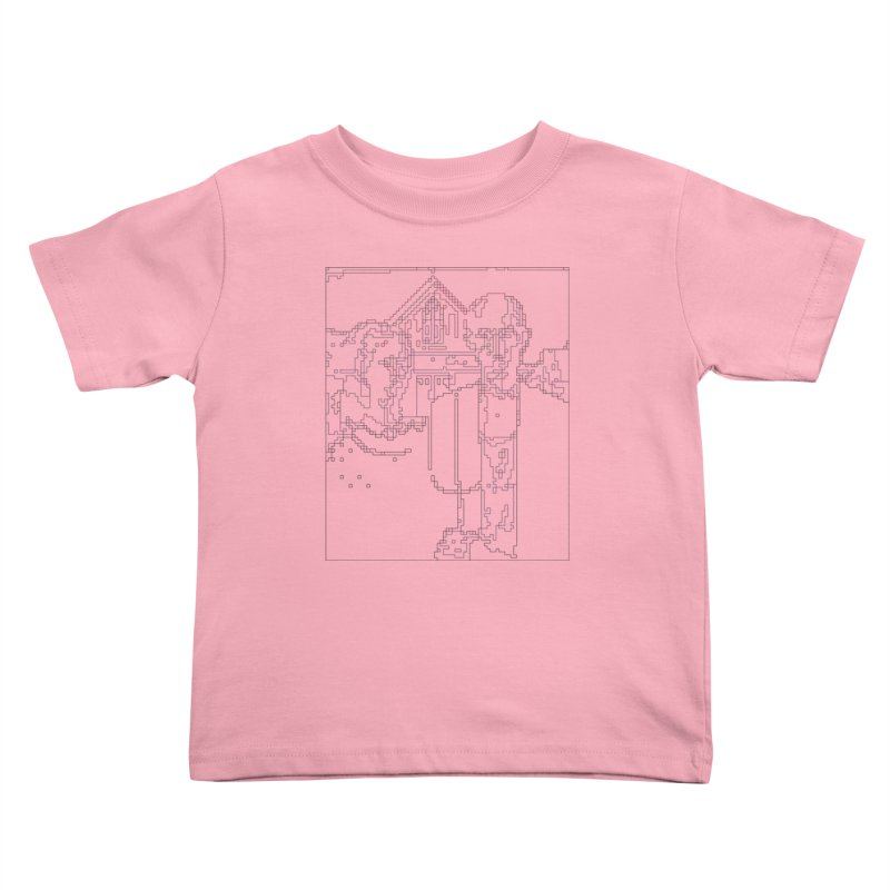 American Gothic - Digital Lines Kids Toddler T-Shirt by Puttyhead's Artist Shop