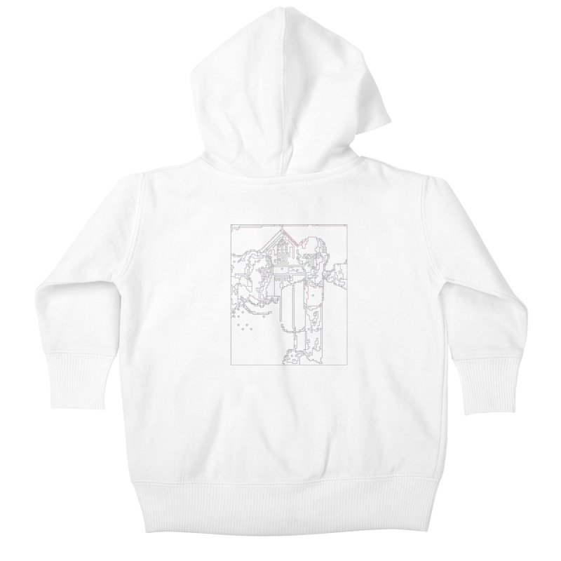 American Gothic - Digital Lines Kids Baby Zip-Up Hoody by Puttyhead's Artist Shop
