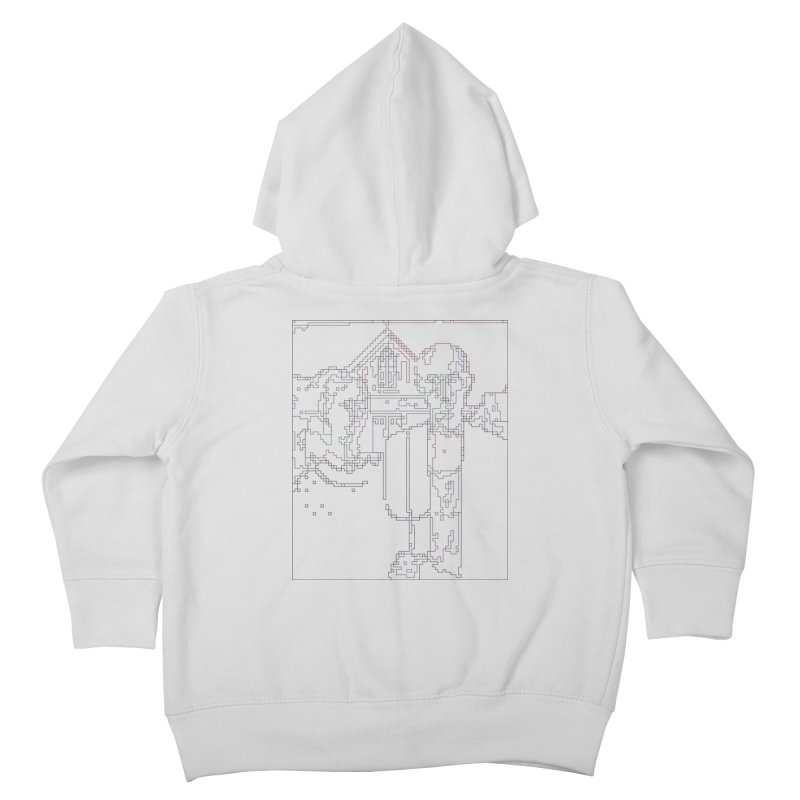 American Gothic - Digital Lines Kids Toddler Zip-Up Hoody by Puttyhead's Artist Shop