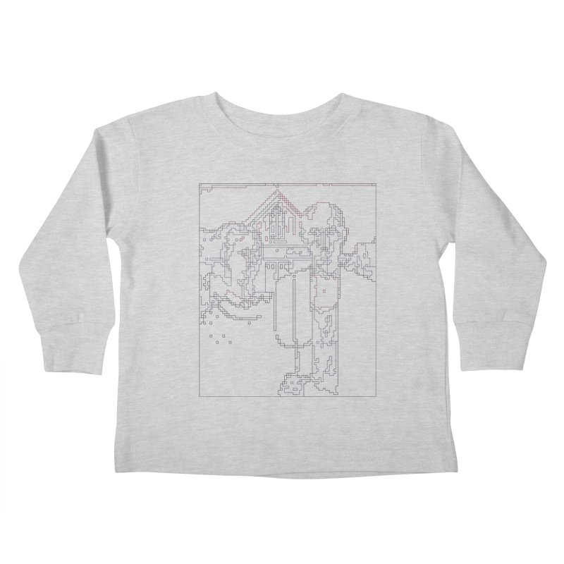 American Gothic - Digital Lines Kids Toddler Longsleeve T-Shirt by Puttyhead's Artist Shop