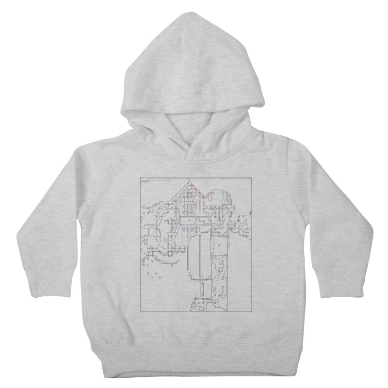 American Gothic - Digital Lines Kids Toddler Pullover Hoody by Puttyhead's Artist Shop