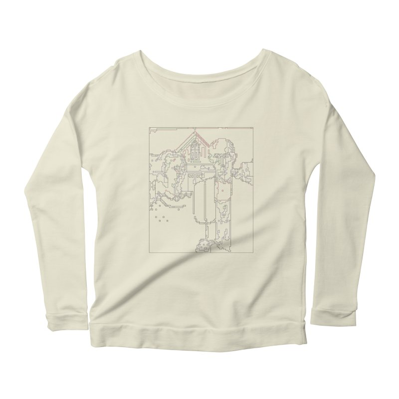 American Gothic - Digital Lines Women's Scoop Neck Longsleeve T-Shirt by Puttyhead's Artist Shop
