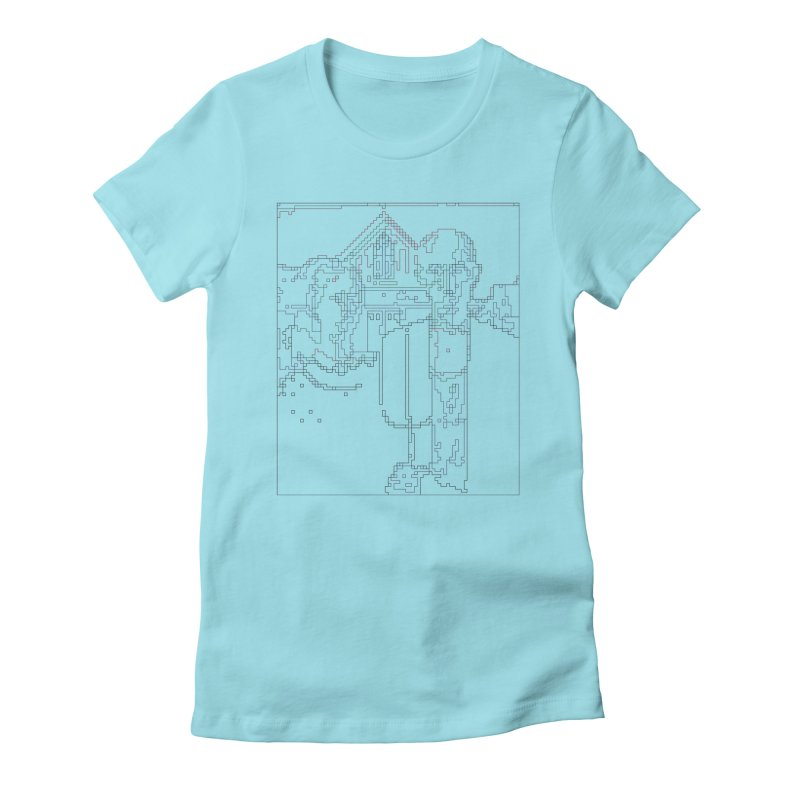 American Gothic - Digital Lines Women's Fitted T-Shirt by Puttyhead's Artist Shop