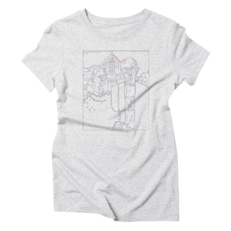 American Gothic - Digital Lines Women's Triblend T-Shirt by Puttyhead's Artist Shop