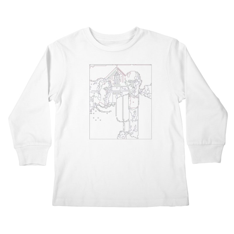 American Gothic - Digital Lines Kids Longsleeve T-Shirt by Puttyhead's Artist Shop