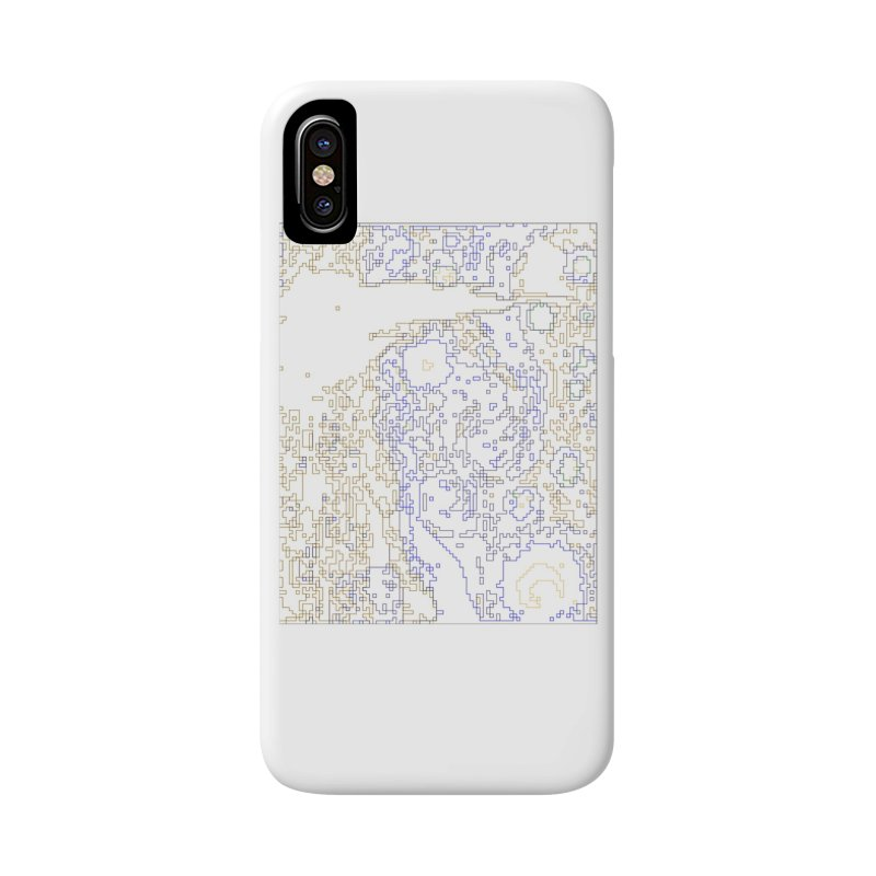 Starry Night - Digital Lines Accessories Phone Case by Puttyhead's Artist Shop
