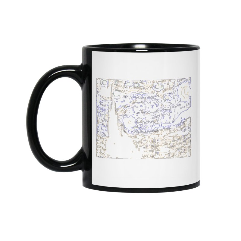 Starry Night - Digital Lines Accessories Standard Mug by Puttyhead's Artist Shop
