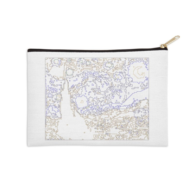 Starry Night - Digital Lines Accessories Zip Pouch by Puttyhead's Artist Shop