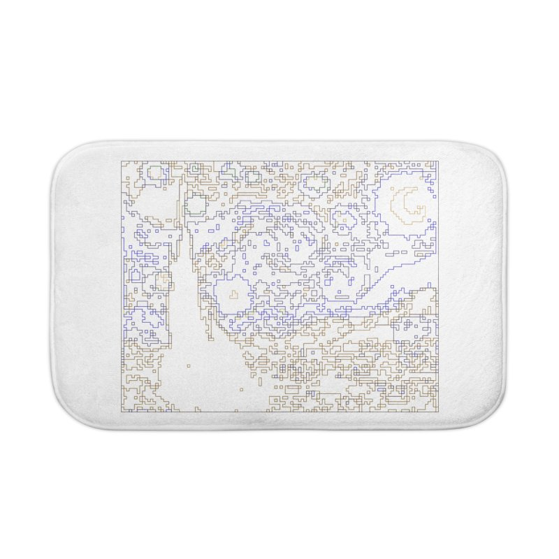 Starry Night - Digital Lines Home Bath Mat by Puttyhead's Artist Shop