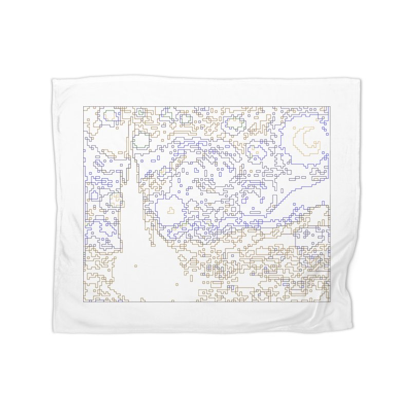 Starry Night - Digital Lines Home Blanket by Puttyhead's Artist Shop