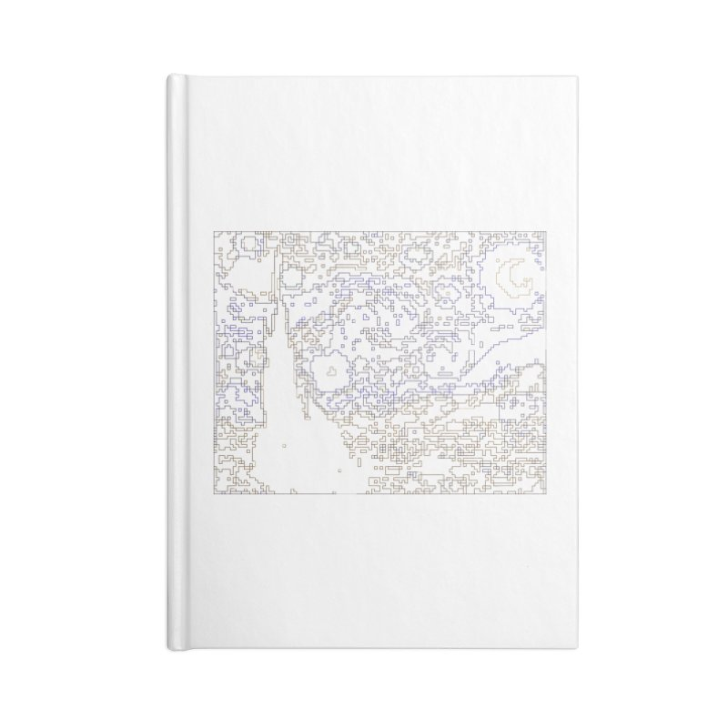 Starry Night - Digital Lines Accessories Notebook by Puttyhead's Artist Shop