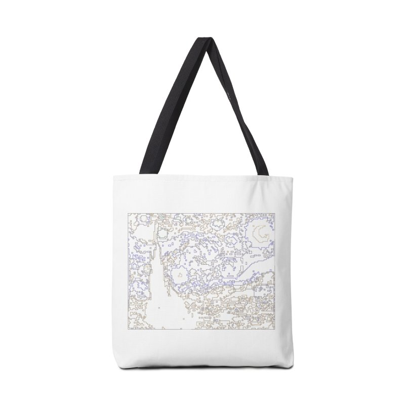 Starry Night - Digital Lines Accessories Tote Bag Bag by Puttyhead's Artist Shop