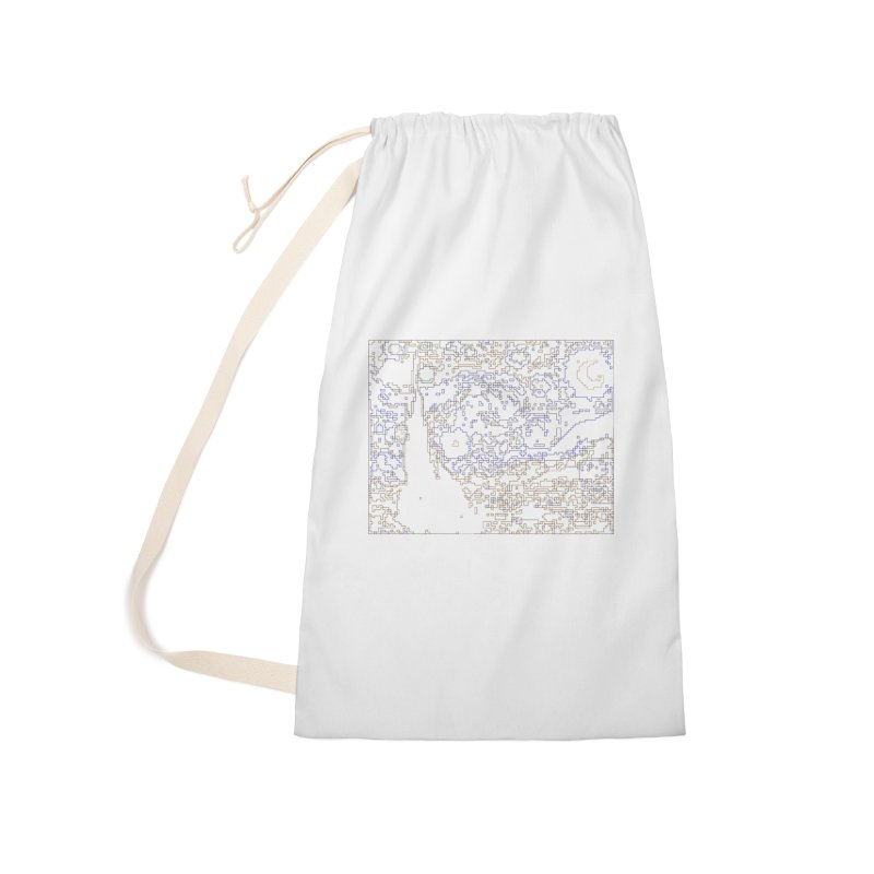 Starry Night - Digital Lines Accessories Laundry Bag Bag by Puttyhead's Artist Shop