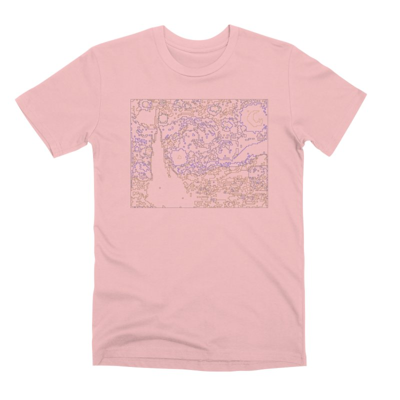 Starry Night - Digital Lines Men's Premium T-Shirt by Puttyhead's Artist Shop