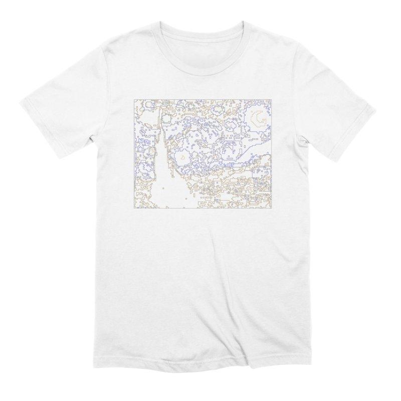 Starry Night - Digital Lines Men's Extra Soft T-Shirt by Puttyhead's Artist Shop